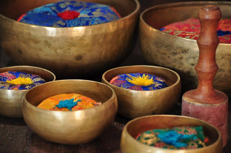 tibetanske sklede zvočni spa